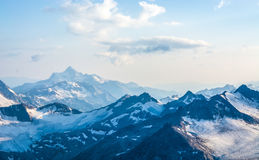 Snow covered Elbrus mountains at winter sunny day Royalty Free Stock Photo