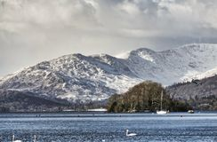 Snow covered Fairfield and Wndermere. Stock Images