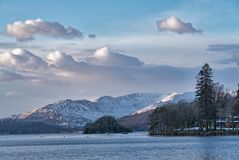 Snow covered Fairfield and Wndermere. Stock Image