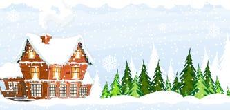 Snow-covered Farmhouse Stock Photos