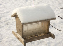 Snow Covered Feeder Stock Photography