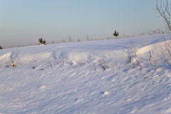 Snow-covered Feld Stockbilder