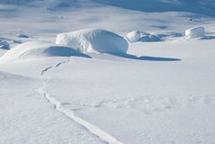 Snow-covered Felsen stockfotos