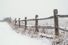 Snow Covered Fence Royalty Free Stock Photography