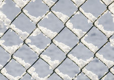 Snow covered fence Royalty Free Stock Images
