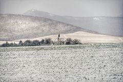Snow Covered Field Royalty Free Stock Photos