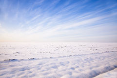 Snow-covered field Royalty Free Stock Images