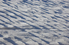 Snow covered field Royalty Free Stock Image