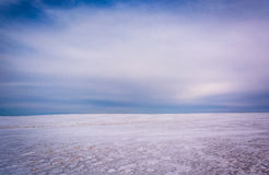 Snow covered field in Adams County, Pennsylvania. Royalty Free Stock Images