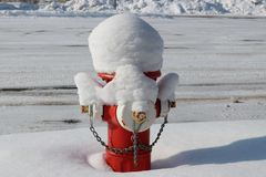 Snow covered fire hydrant Royalty Free Stock Photography
