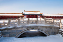Snow covered Forbidden City Royalty Free Stock Photo