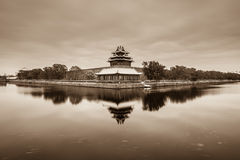 Snow covered Forbidden City. Forbidden City is the place where Chinese emperors once lived. Representing the winter snow. Winter is full of memories of people Royalty Free Stock Image