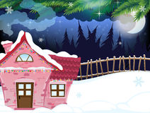Snow covered forest house Stock Photography