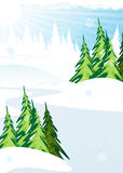 Snow covered forest Royalty Free Stock Photography