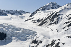 Snow covered glacier Royalty Free Stock Photo