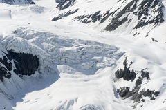 Snow covered glacier Royalty Free Stock Image
