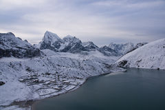Snow Covered Gokyo Village Stock Images