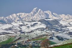 Gran Sasso Mountains Royalty Free Stock Photography
