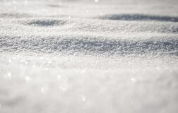 Snow Covered Ground Royalty Free Stock Photos