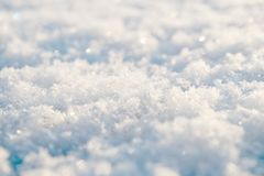 Snowflakes close view Stock Photography
