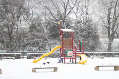 Snow covered ground. A heavy fall of snow covered the ground Royalty Free Stock Photos