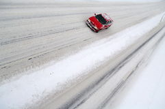 Snow covered highroad. Highway on a winter day cowered snow Stock Photo