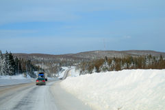 Snow Covered Highway Royalty Free Stock Image