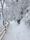 Snow-Covered Hiking in St. Johann Pongau, Austria Royalty Free Stock Images