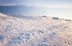 The snow-covered hill Royalty Free Stock Photo