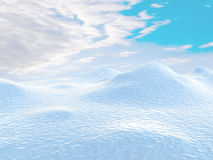 Snow-covered hills Stock Photos