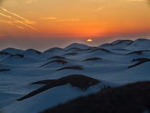 Snow-covered hills Stock Image