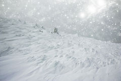 Snow covered hillside Stock Images