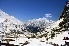 Snow covered Himalayas wallpaper Stock Photo