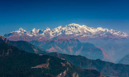 Snow covered himalyas peaks Royalty Free Stock Photography
