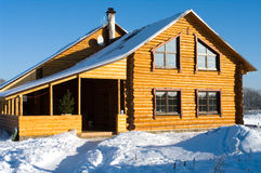 The snow-covered house. stock images