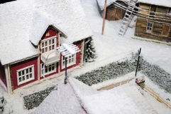 Snow-covered House Royalty Free Stock Photo