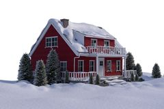 Snow covered house Stock Images