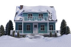 Snow covered house Royalty Free Stock Image