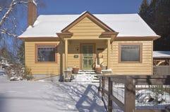 Snow covered house Gresham Oregon. Stock Photo
