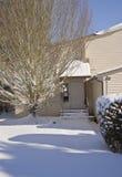 Snow covered house Gresham Oregon. Stock Photos