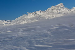 Snow-covered ice hummocks of Lake Baikal Royalty Free Stock Images