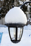 Snow Covered Lamp Royalty Free Stock Images