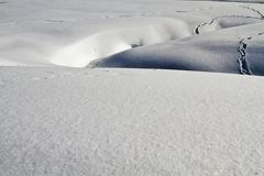 Snow covered landscape, Kashmir, Jammu And Kashmir, India Royalty Free Stock Photo