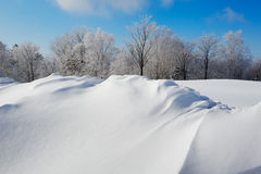 The snow-covered landscape Royalty Free Stock Photos