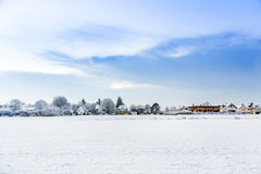 Snow-covered landscape Stock Photos
