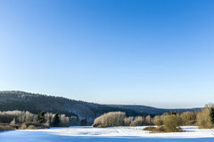 Snow-covered landscape Stock Photo