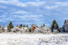 Snow-Covered Landschaft Stockbild