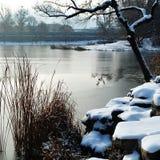 Snow-covered landschap Royalty-vrije Stock Afbeeldingen