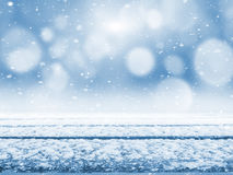Snow-covered lijst Stock Fotografie