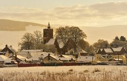 Christmas card scene, Moffat, Scotland Stock Photos